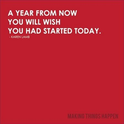 Day 3: to remember when writing up your new year's resolutions. in a year's time, you will thank yourself.