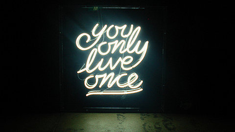 Day 60(5): another reminder to use your time wisely. you only get one life, but if you live it well, once is enough.