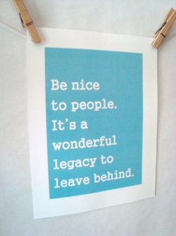 Day 71(3): again with the good karma message – do nice things for people and nice things will happen to you.