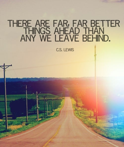 Day 89(2): look ahead of you not behind you, so you can move forward and not backward.